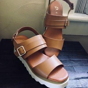 Shoes - Wedge Vegan Platform NWOT